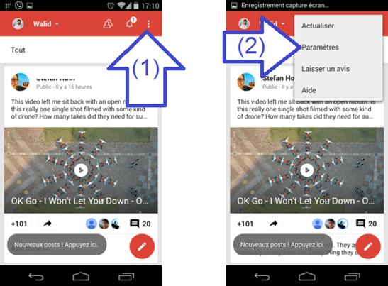 Paramètres des Photos Android