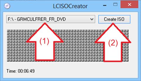 LC ISO Creator sélection de CD