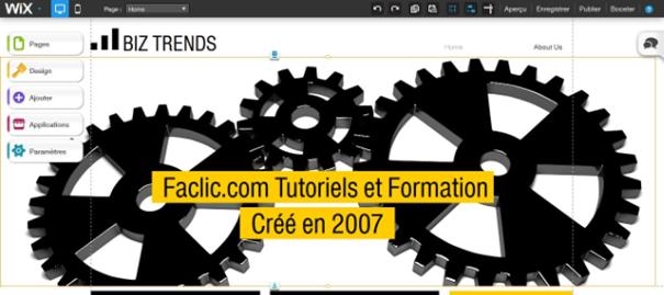 Editeur HTML de WIX