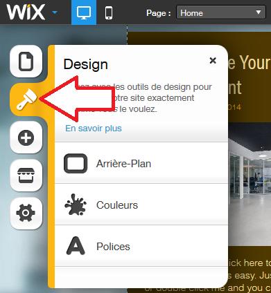 Design du site Wix