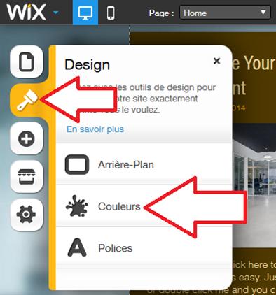 Changer les couleurs du site Wix