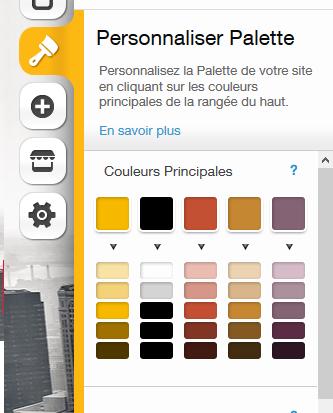 Personnaliser les couleurs du site