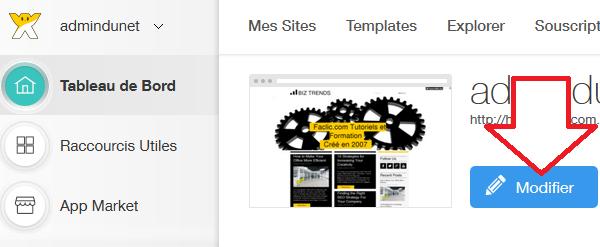 Modifier un site WIX