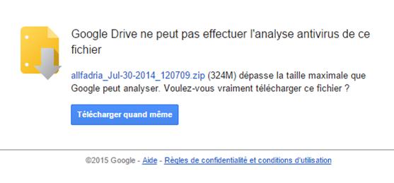 Télécharger fichier Drive