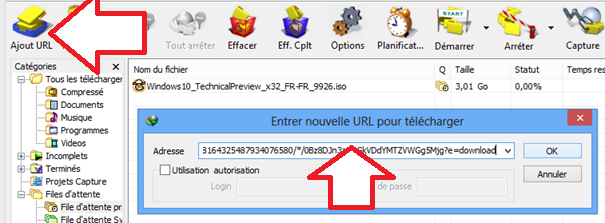 Ajouter un fichier à la liste de téléchargement IDM