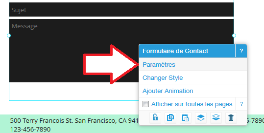 Modification du formulaire de contact