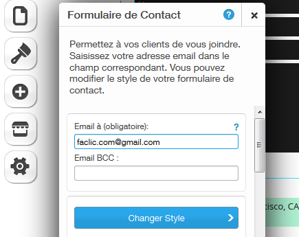 Email de contact WIX
