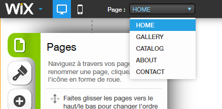 Pages WIX