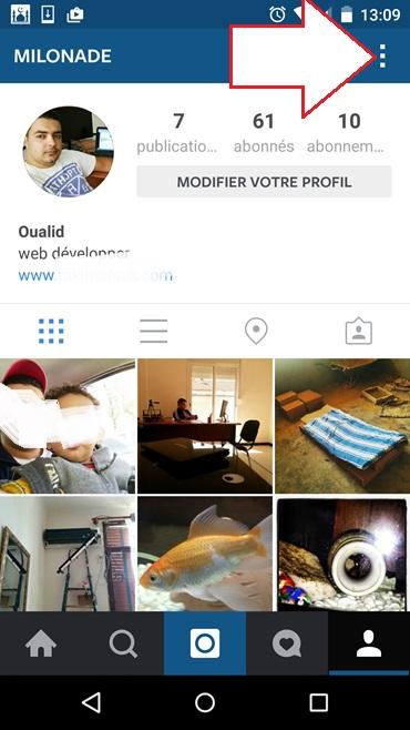 Paramètres d'application Instagram