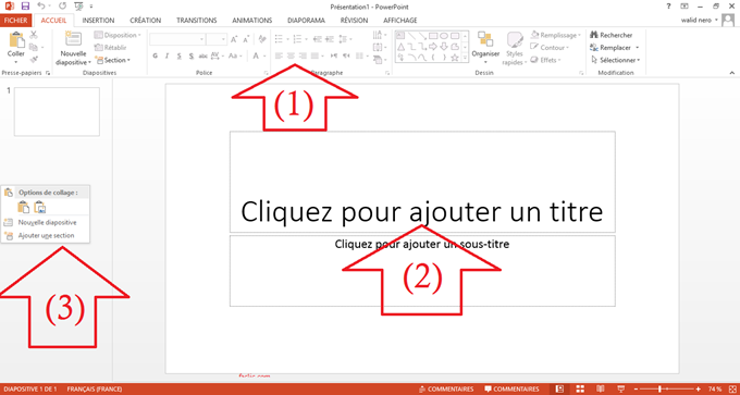 Interface Powerpoint