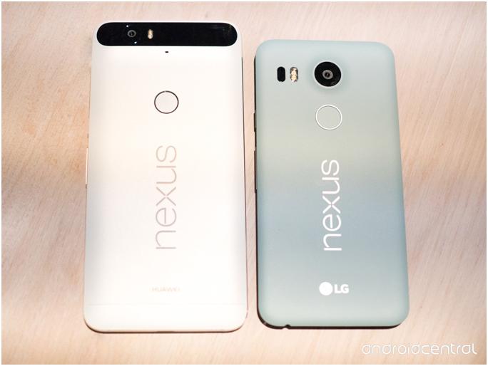 Nexus 5X et Nexus 6P