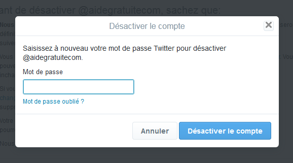 Valider la demande de suppression
