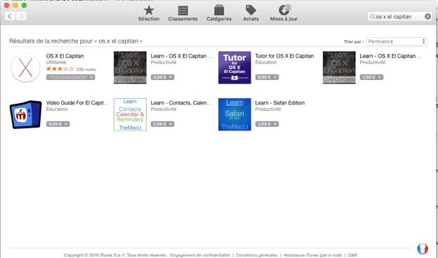 Téléchargement d'OS Mac