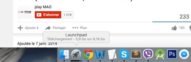 Progression du téléchargement d'OS