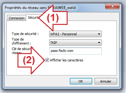 Mot de passe Wifi enregistré sur Windows