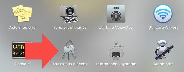 Trousseaux d'accès Mac