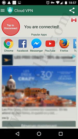Ouvrir une application avec le VPN