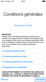 Condition d'utilisation Apple