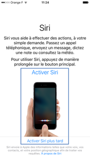 Activation de SIRI sur iPhone