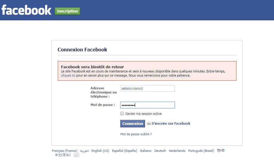 Facebook sera bientôt de retour