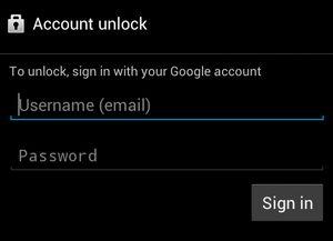 déverrouiller Android grâce à l'identification Gmail