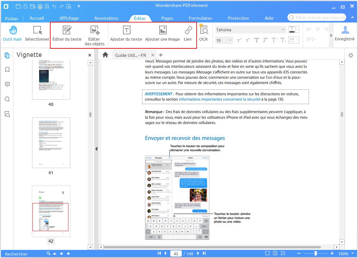 modification d'un fichier PDF securisé