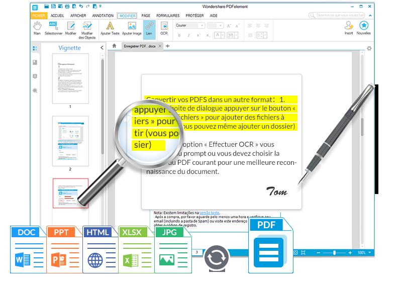 Editer un fichier PDF protégé