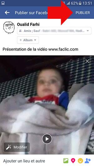 Publier la vidéo